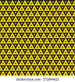 Seamless yellow triangle pattern background.