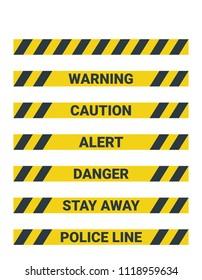 Seamless yellow Warning pattern