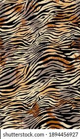 Seamless zebra pattern, animal print.