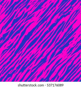 Seamless Zebra pattern. Vector illustration. The bright print clothing. 80s style