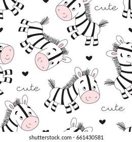 seamless zebra pattern vector illustration