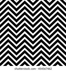 Seamless zigzag pattern of parallel lines. Geometric wave. Seamless background with horizontal black stripes in zigzag