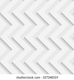 Seamless ZigZag Pattern. Vector Soft Background. Regular White Texture