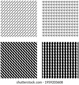 Seamlessly repeatable shapes pattern, background, and texture. Vector