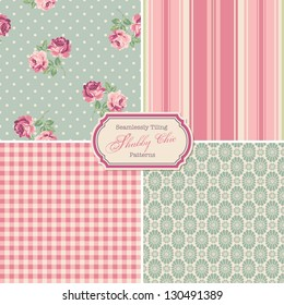 "seamlessly tiling ""shabby chic"" patterns (saved to the colors/pattern palette)"
