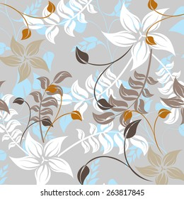 Seamples Flower illustration  Floral Pattern Texture Art