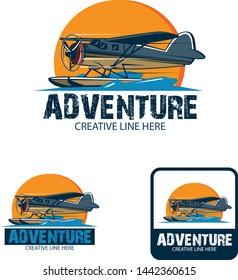 seaplane adventure, a design for travel, adventure, etc