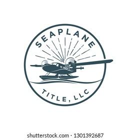 Seaplane logo vintage