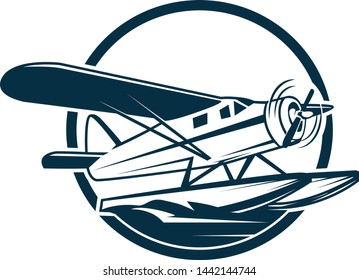 seaplane, a simple logo for travel business