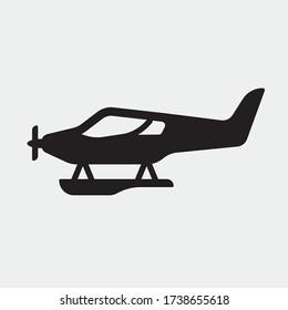 seaplane vector icon illustration sign
