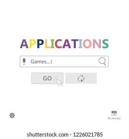 Search for applications to use concept