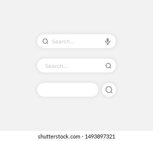 Search bar on white background ui template - Vector