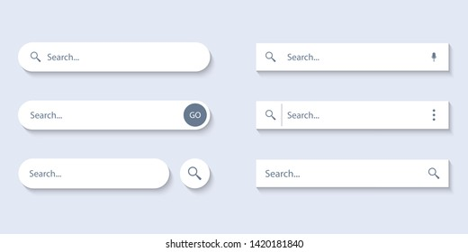 Search Bar for ui, design and web site. Search Address and navigation bar icon. Collection of search form templates for websites
