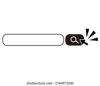 Search box vector illustration, search bar.