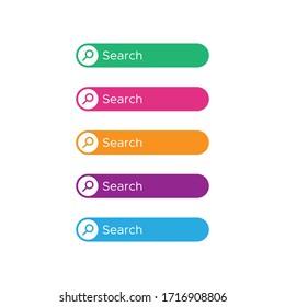 Search button icon vector design template