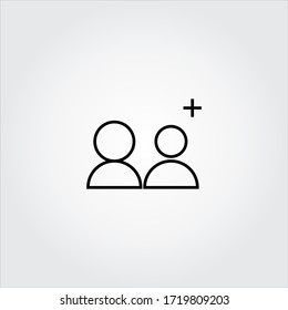 search by person , line vector design template