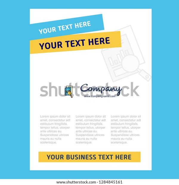 Search Document Title Page Design Company Stock Vector
