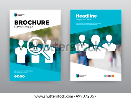 search employee blue team people minimalist stock vector royalty