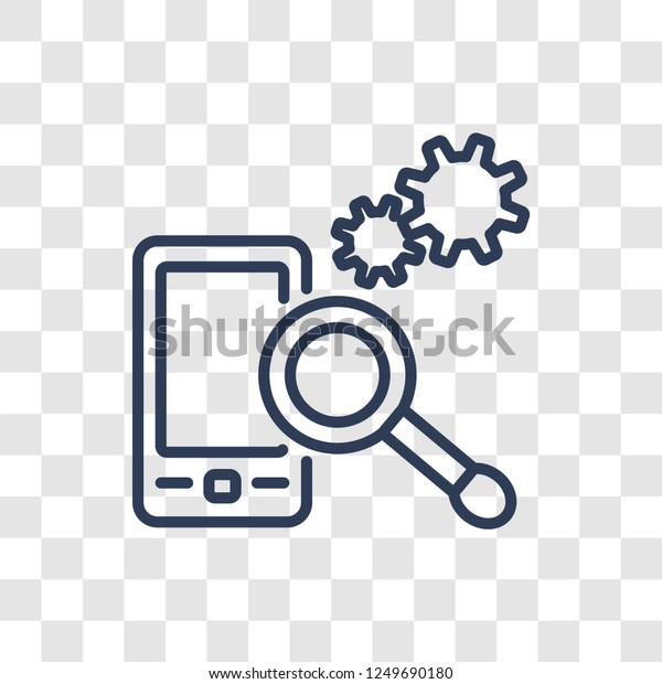 Search Engine Icon Trendy Linear Search Stock Vector