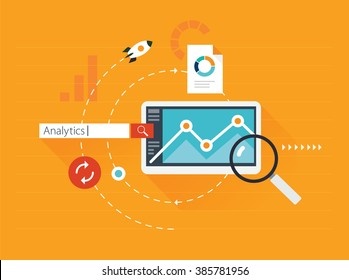 Search engine marketing, flat illustration