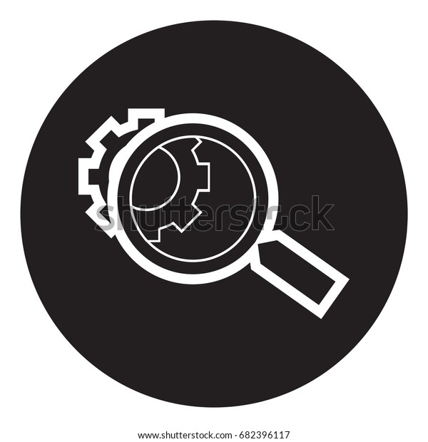 Search Engine Optimalization Icon Flat Black Stock Vector
