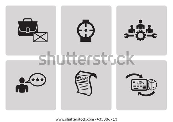 Search Engine Optimization Internet Marketing Icons Stock