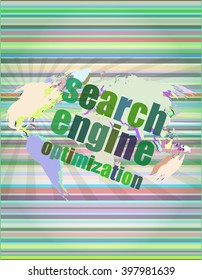Search Engine Optimization - SEO Sign in Browser Window vector illustration