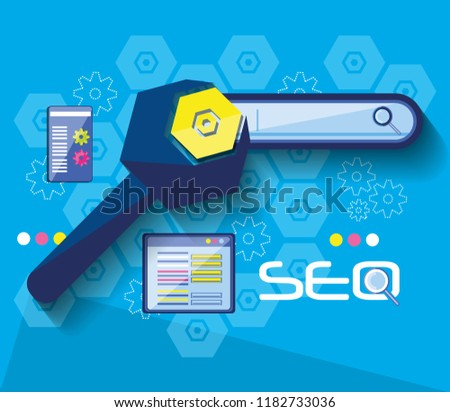 search engine optimization set icons