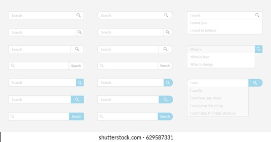 Search field vector element design template
