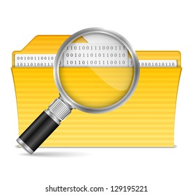 Search file icon, vector eps10 illustration