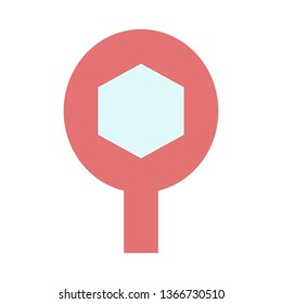 Search, Find Benzene, Laboratories, Flat Style Icon Vector - Vector