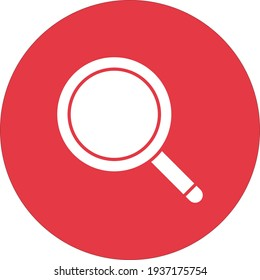Search, find, magnifying glass icon vector image. Can also be used for information technology. Suitable for use on web apps, mobile apps and print media.
