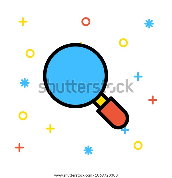 Search Find Zoom Stock Vector (Royalty Free) 1069728383
