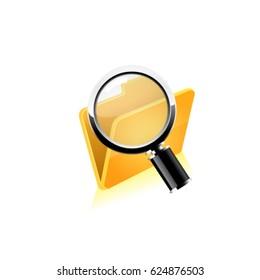 Search folder. Vector