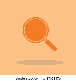 Search glass vector icon illustration sign