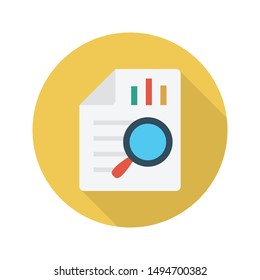 search graph report glyph flat vector icon