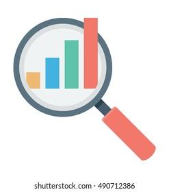 Search Graph Vector Icon