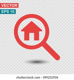 search house, icon. One of set web icons
