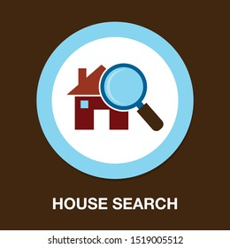 search house icon, property real estate icon