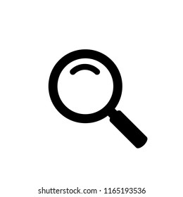 Search icon isolated on white background. Trendy search icon in flat style. Magnifying glass icon for app, ui, logo and web site. Vector illustration, EPS 10