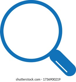 search icon. magnifier glass icon vector (blue version)