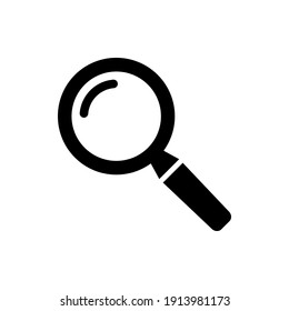 Search icon, Magnifying glass icon symbol vector illustration.