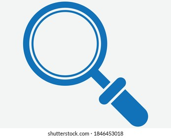 search icon. magnifying icon vector (blue version)
