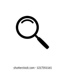 Search icon vector. flat icon magnifying glass symbol