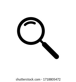 Search icon vector. Glyph symbol magnifying glass isolated