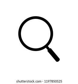 Search icon vector. magnifying glass flat icon symbol