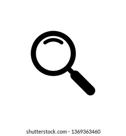 Search icon vector. Magnifying glass symbol