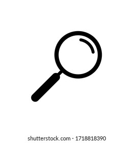 Search icon vector. Magnifying glass icon symbol isolated