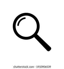 Search icon vector. Magnifying glass symbol vector illustration