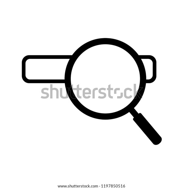 Search Icon Vector Search On Address Stock Vector (Royalty Free